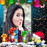 montagem-de-fotos-gratis-natal-com-os-minions