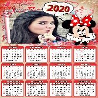 montagem-com-fotos-em-calendario-2020-minnie-vermelho