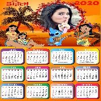 moldura-para-calendario-personalizado-2020-lilo-e-stitch