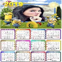 moldura-minions-calendario-2019