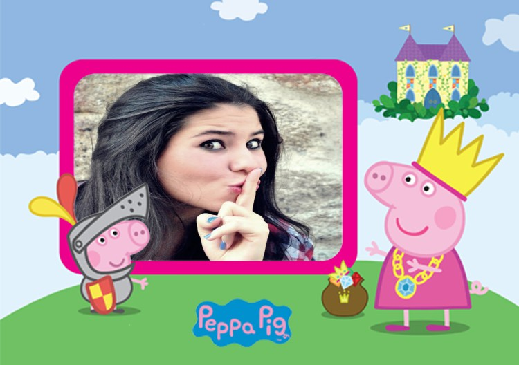 moldura-da-peppa-e-do-george-no-castelo