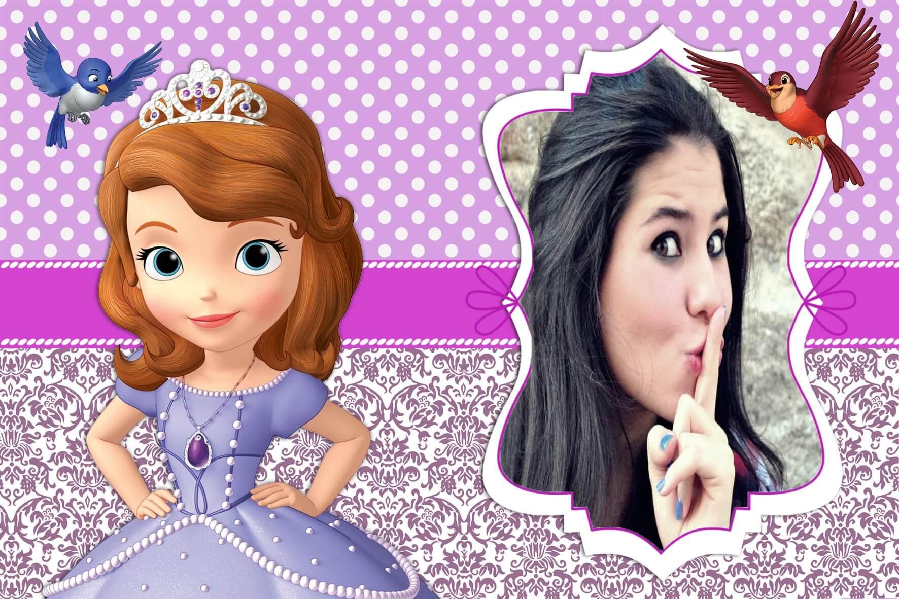 Montagem de fotos filmes moldura para foto princesinha - Foto princesa sofia ...