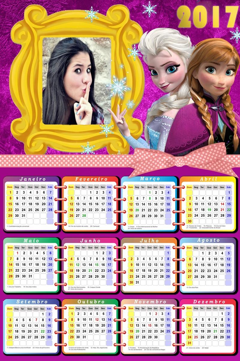 calendario-online-2017-personalizado-gratis-frozen