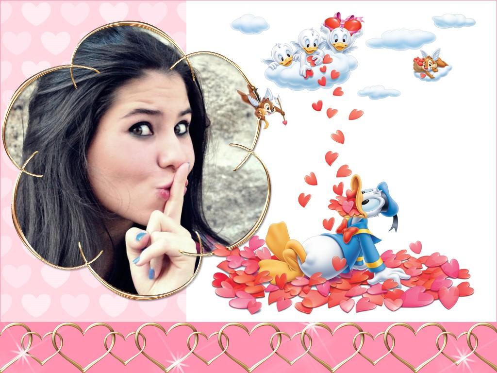 molduras-para-fotos-pato-donald-apaixonado-e-mil-coracoes