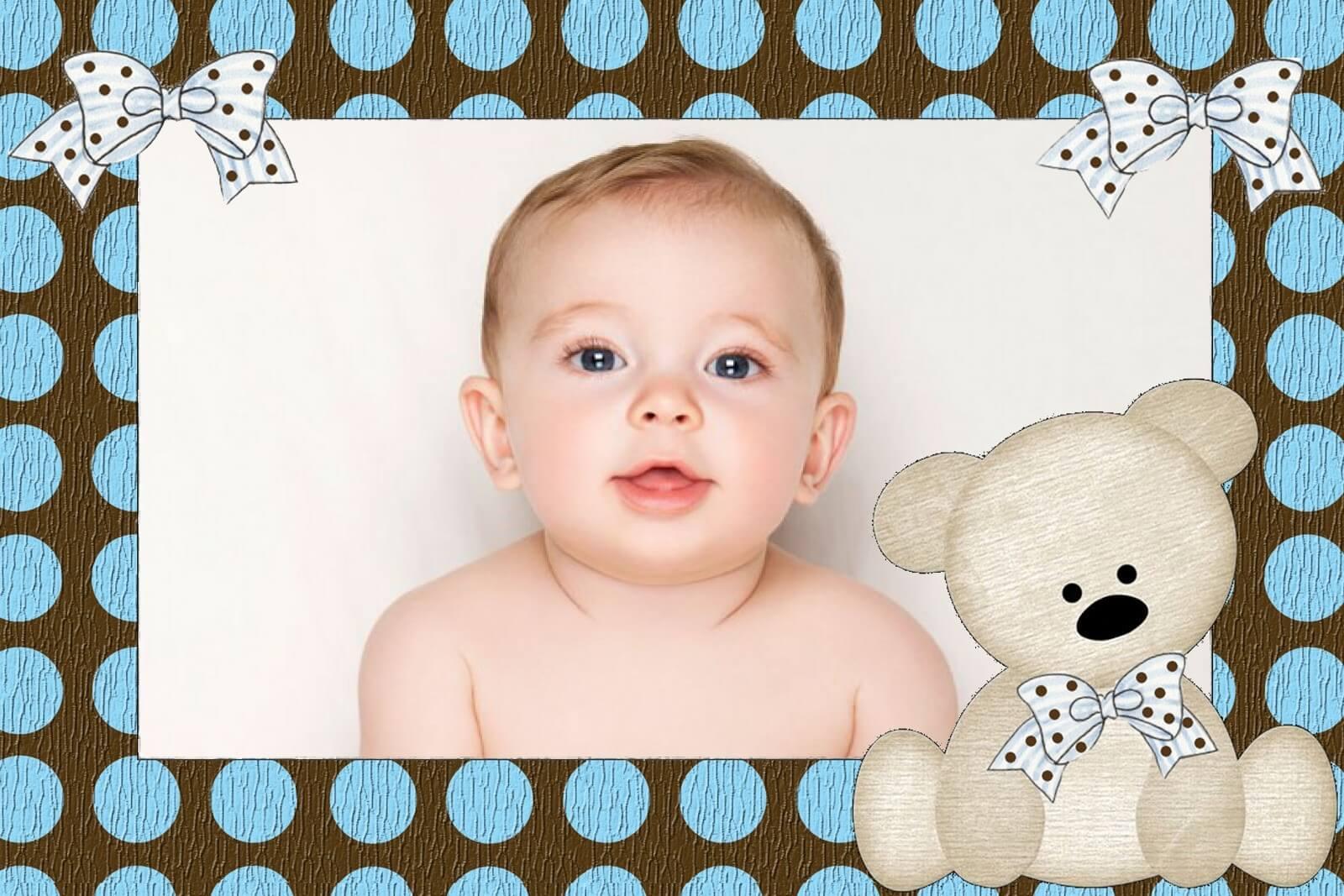 moldura-de-fotos-com-ursinho-infantil
