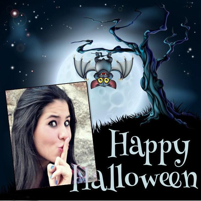 moldura-de-foto-happy-halloween-com-morcego