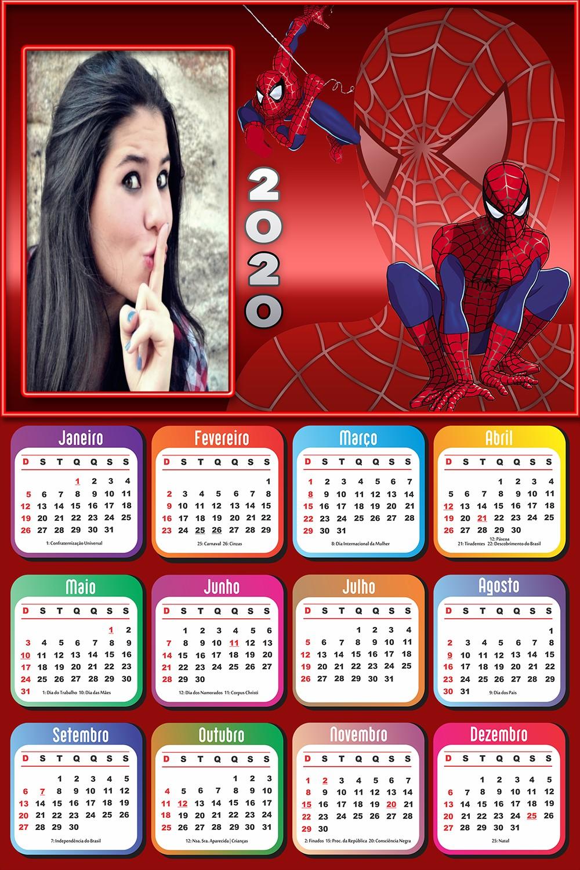 calendario-2020-homem-aranha-com-foto