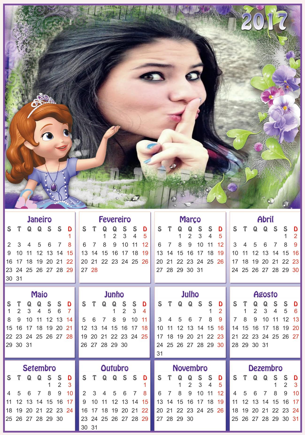 moldura-calendario-2017-princesa-sofia-disney