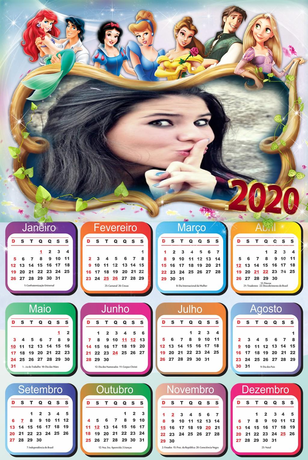 foto-calendario-personalizado-princesas-disney-2020