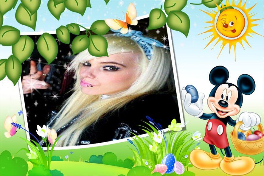 montagem-de-fotos-para-pascoa-com-mickey-mouse