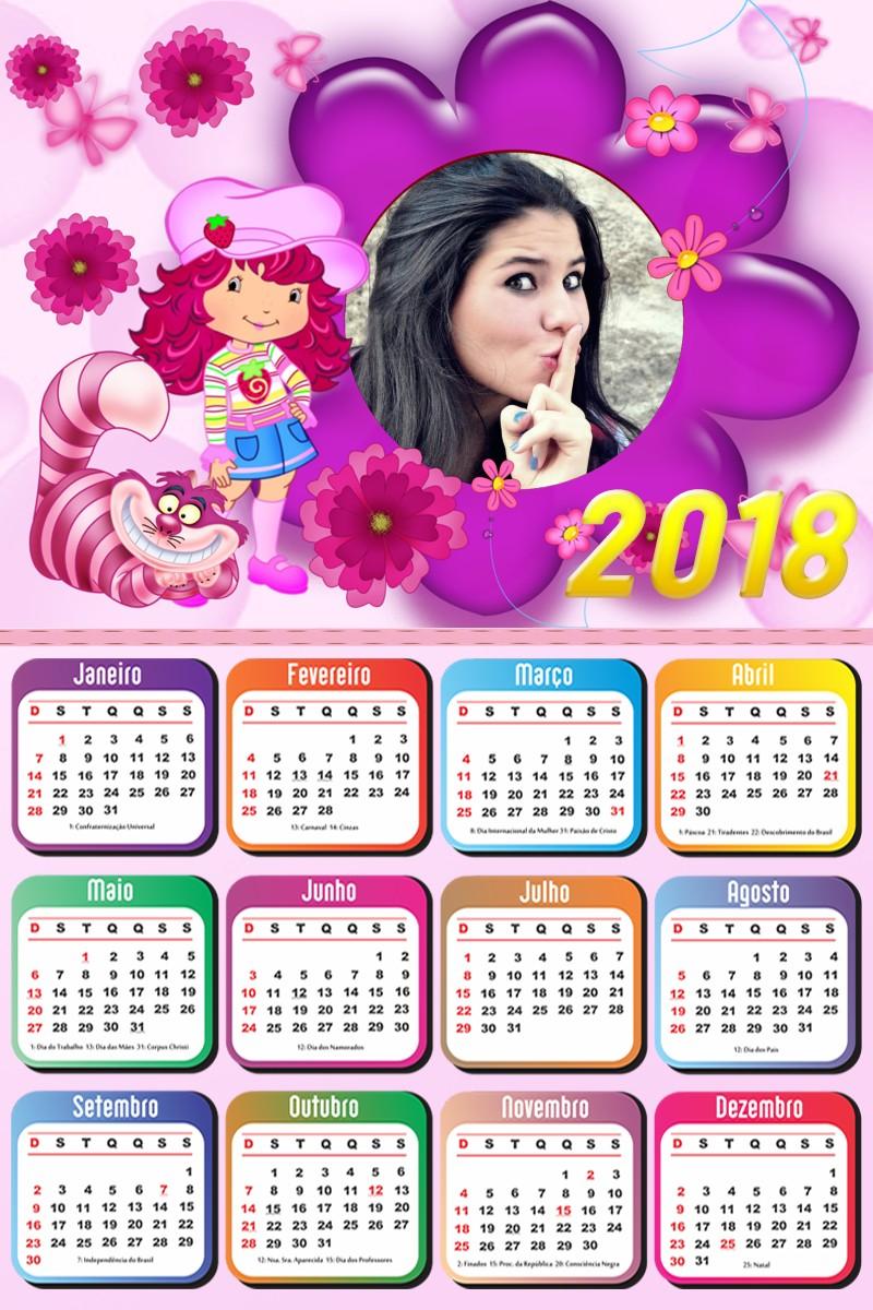 Calendario De 2018 Com Feriados