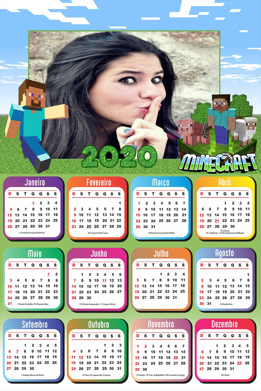 calendario-2020-moldura-minecraft