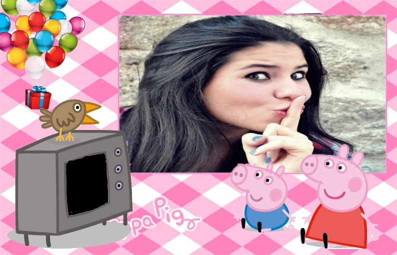 peppa-pig-assistindo-tv-com-george-fotomontagem-online