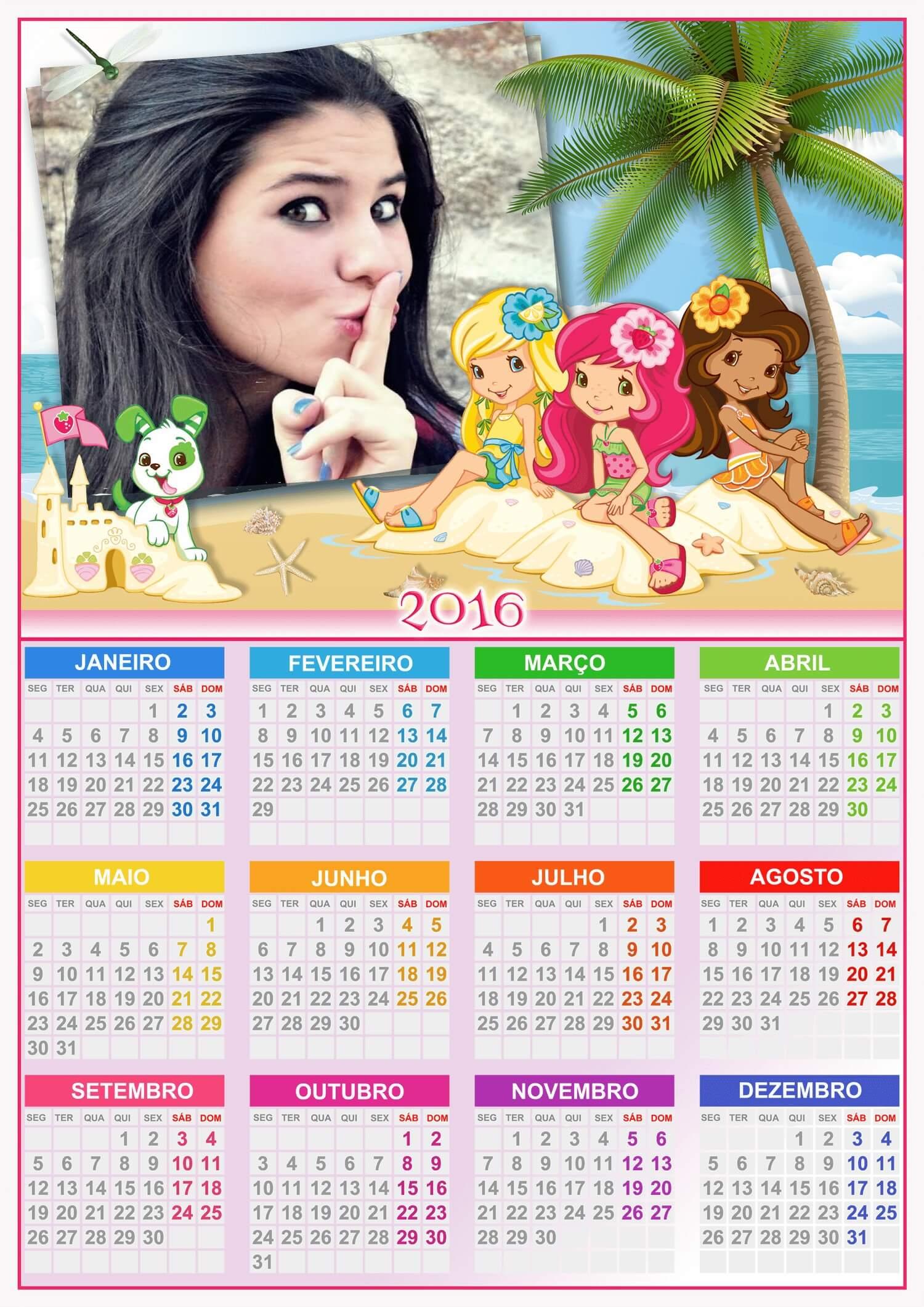 moldura-digital-de-calendario-2016-com-moranguinho-na-praia