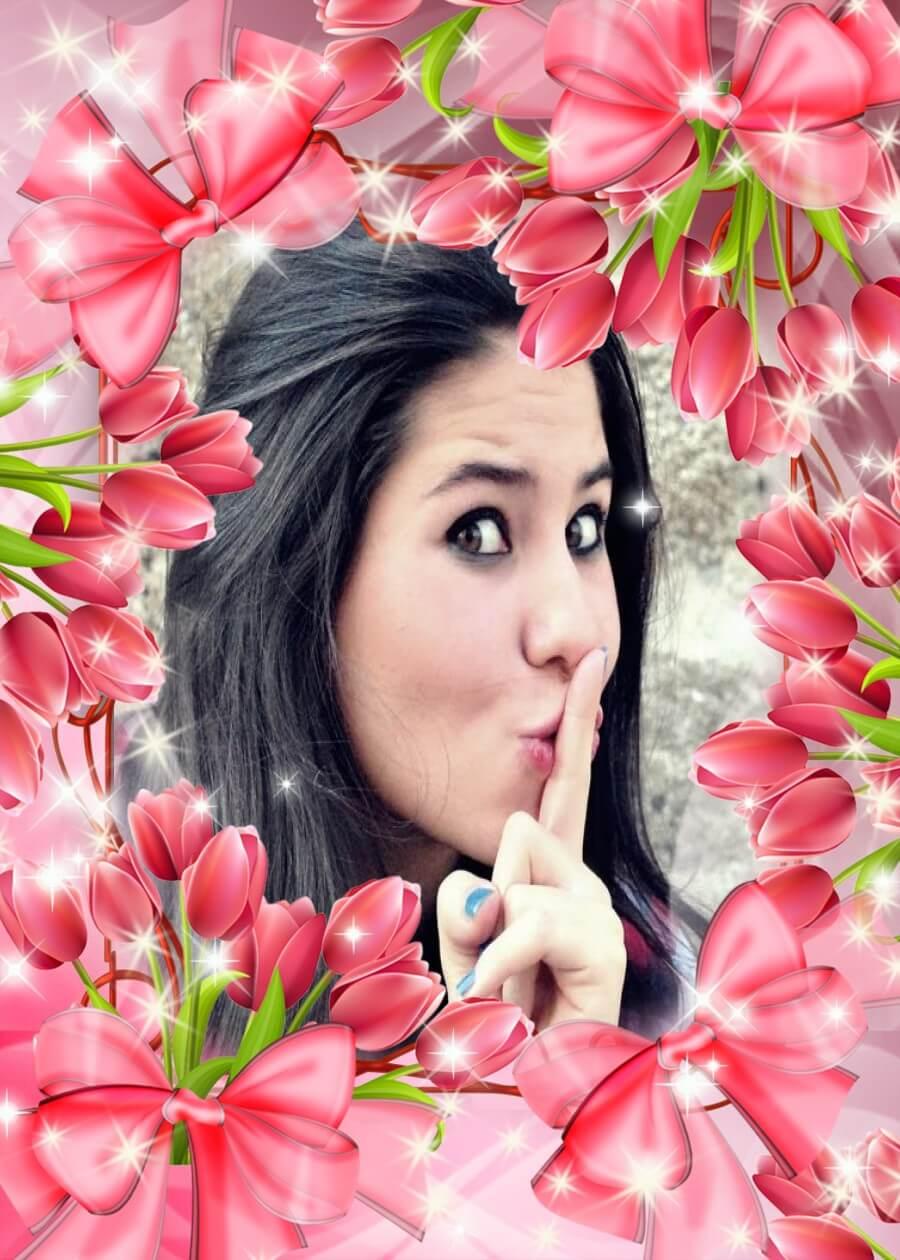moldura-tulipas-cor-de-rosa