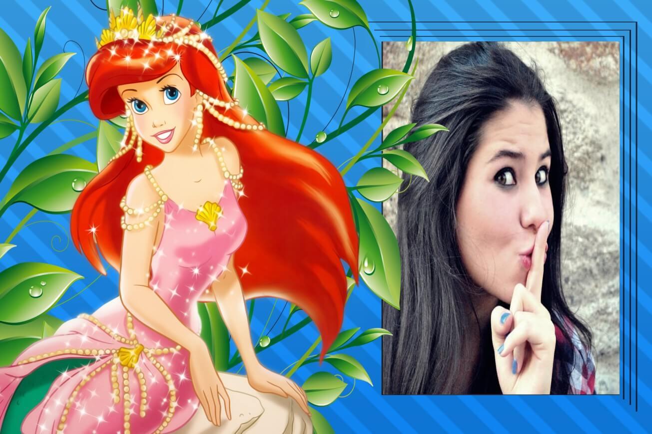 montagem-de-fotos-com-princesa-disney-ariel