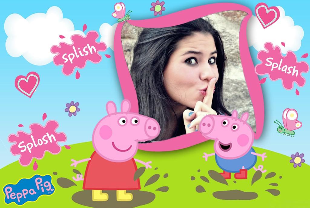 Montagem de fotos | infantil | Moldura de Peppa Pig para ...