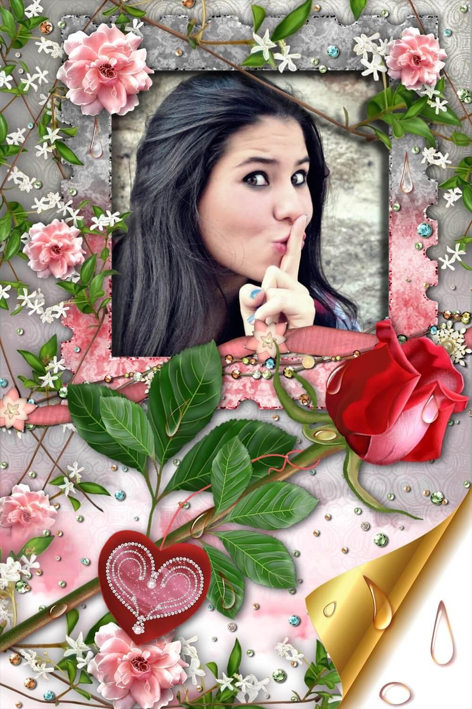 montagem-de-fotos-amor-uma-rosa-para-voce