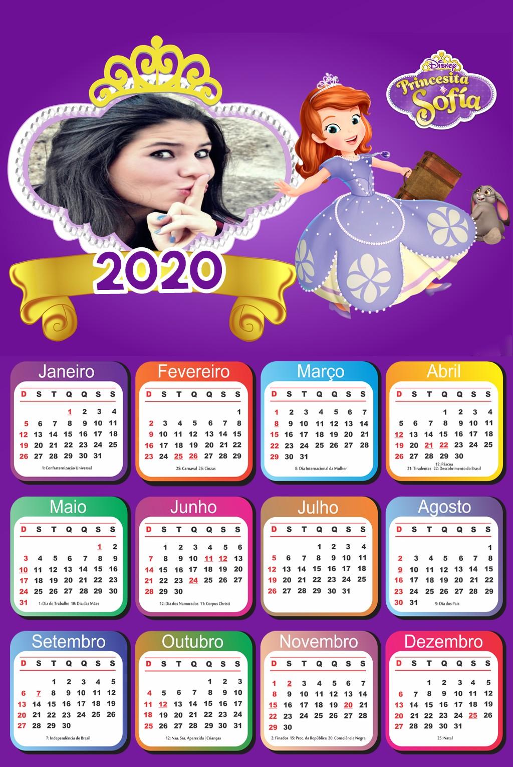 moldura-para-fotos-calendario-2020-princesa-sofia