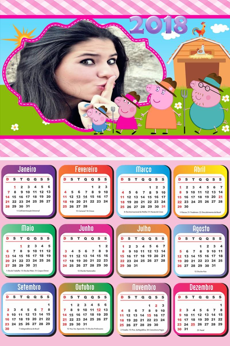 calendario-2018-peppa-pig-e-familia-na-fazenda