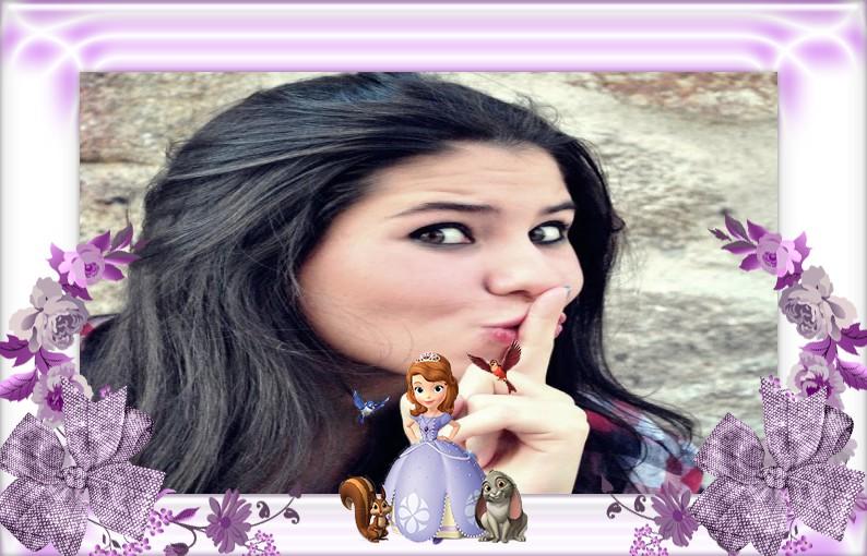 moldura-de-foto-princesa-sofia-e-animais-da-floresta