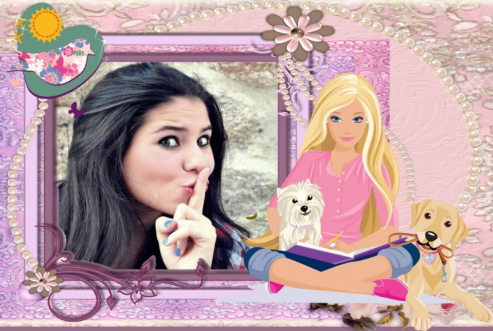 montagem-de-fotos-da-barbie-com-cachorros