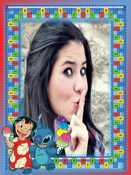 borda-lilo-e-stich-comendo-sorvete