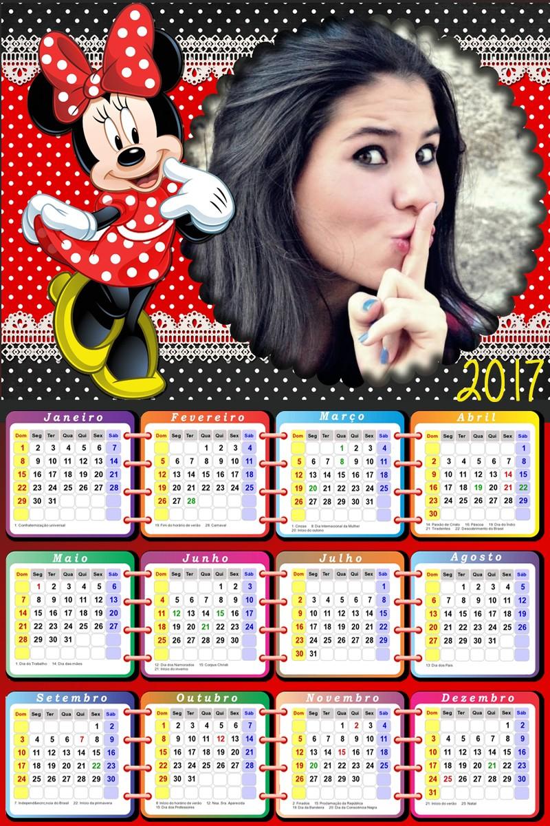 calendario-com-foto-personalizado-2017-com-minnie