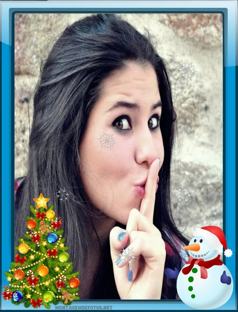 montar-foto-de-natal-com-boneco-de-neve-e-arvore-de-natal