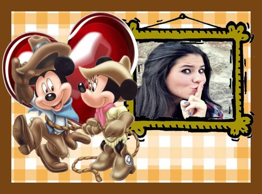 mickey-e-minnie-vaqueiros-de-rodeio-country-fotomontagem-gratis