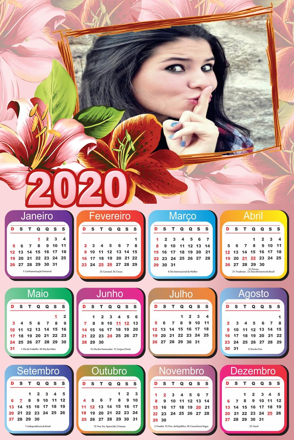 calendario-2020-com-moldura-para-fotos-com-flores