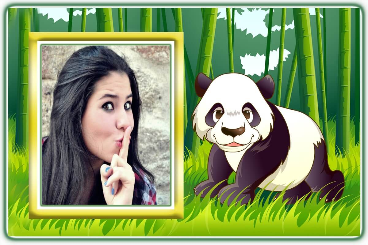 ursinho-panda-foto-moldura-online