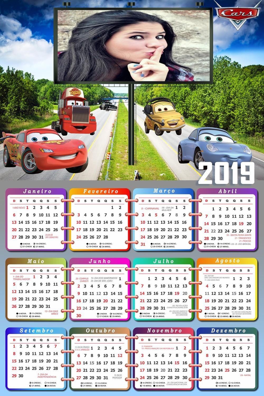 montagem-de-fotos-calendario-2019-com-relampago-mcqueen-e-amigos