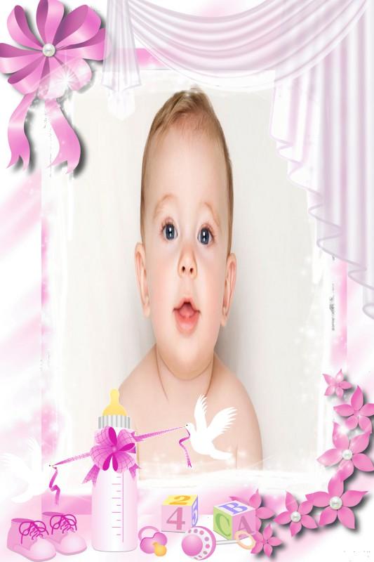 montagem-de-fotos-bebe-menina