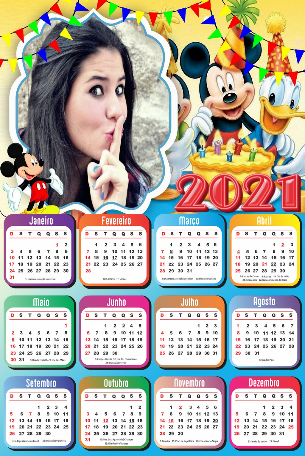 foto-calendario-2021-personalizado-festa-do-mickey