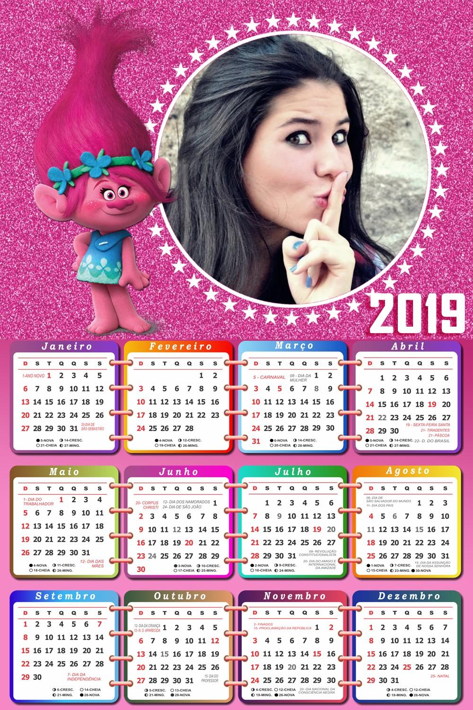 calendario-2019-em-rosa-com-poppy-trolls