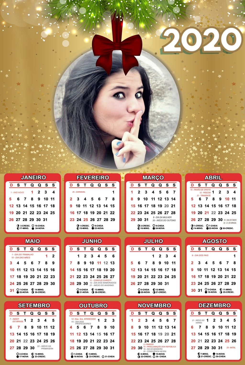 fotomontagem-calendario-2020-em-bola-enfeite-de-natal-dourado