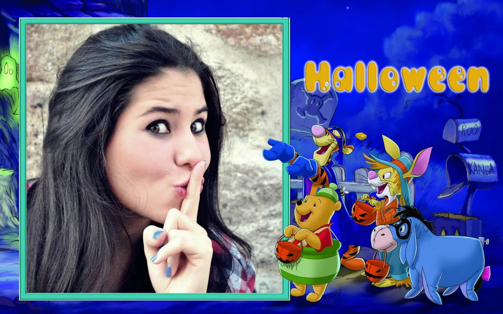 montar-foto-festa-de-halloween-do-ursinho-pooh