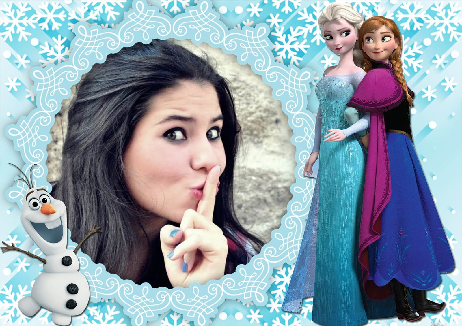 moldura-do-filme-de-animacao-frozen