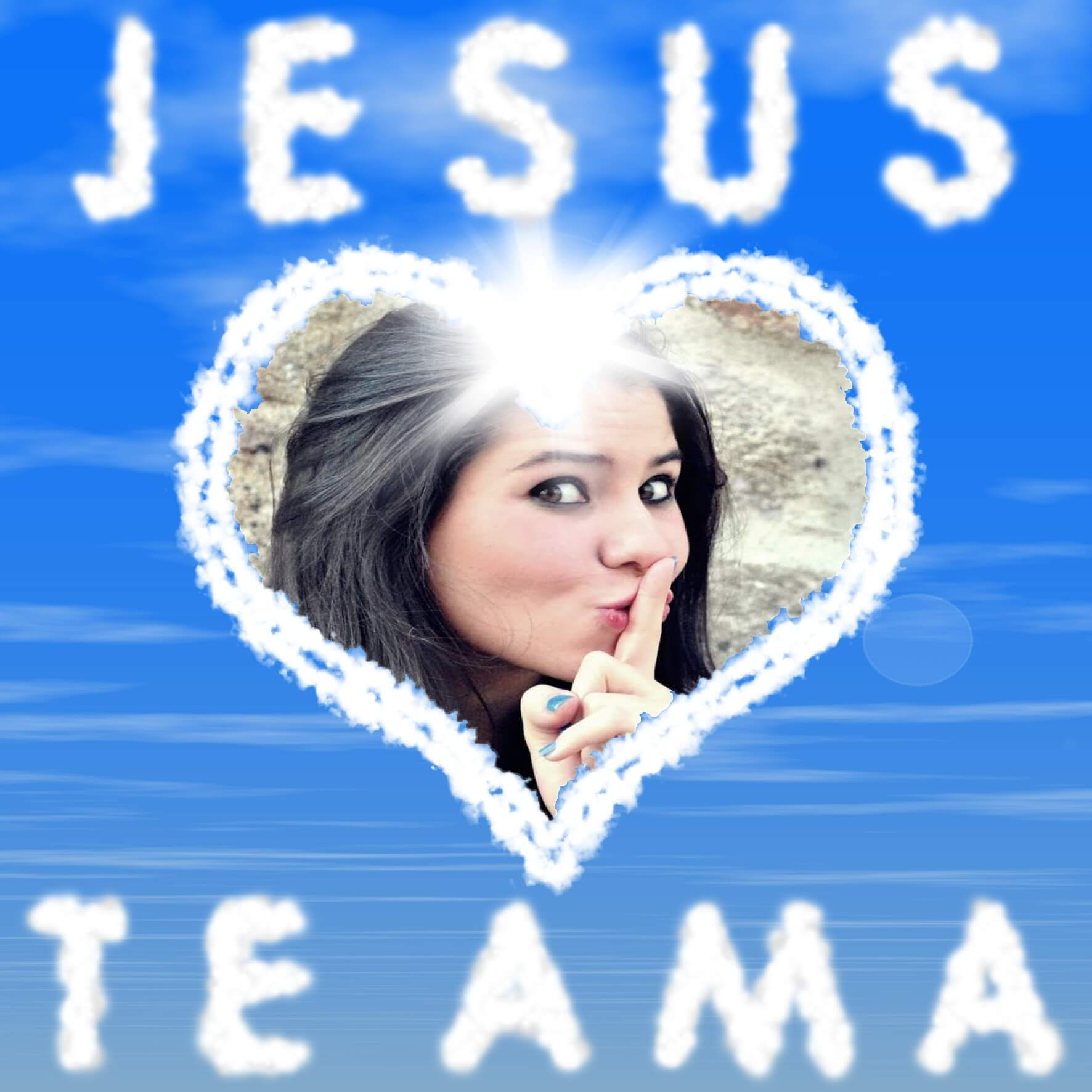 jesus-te-ama-montagem-de-foto