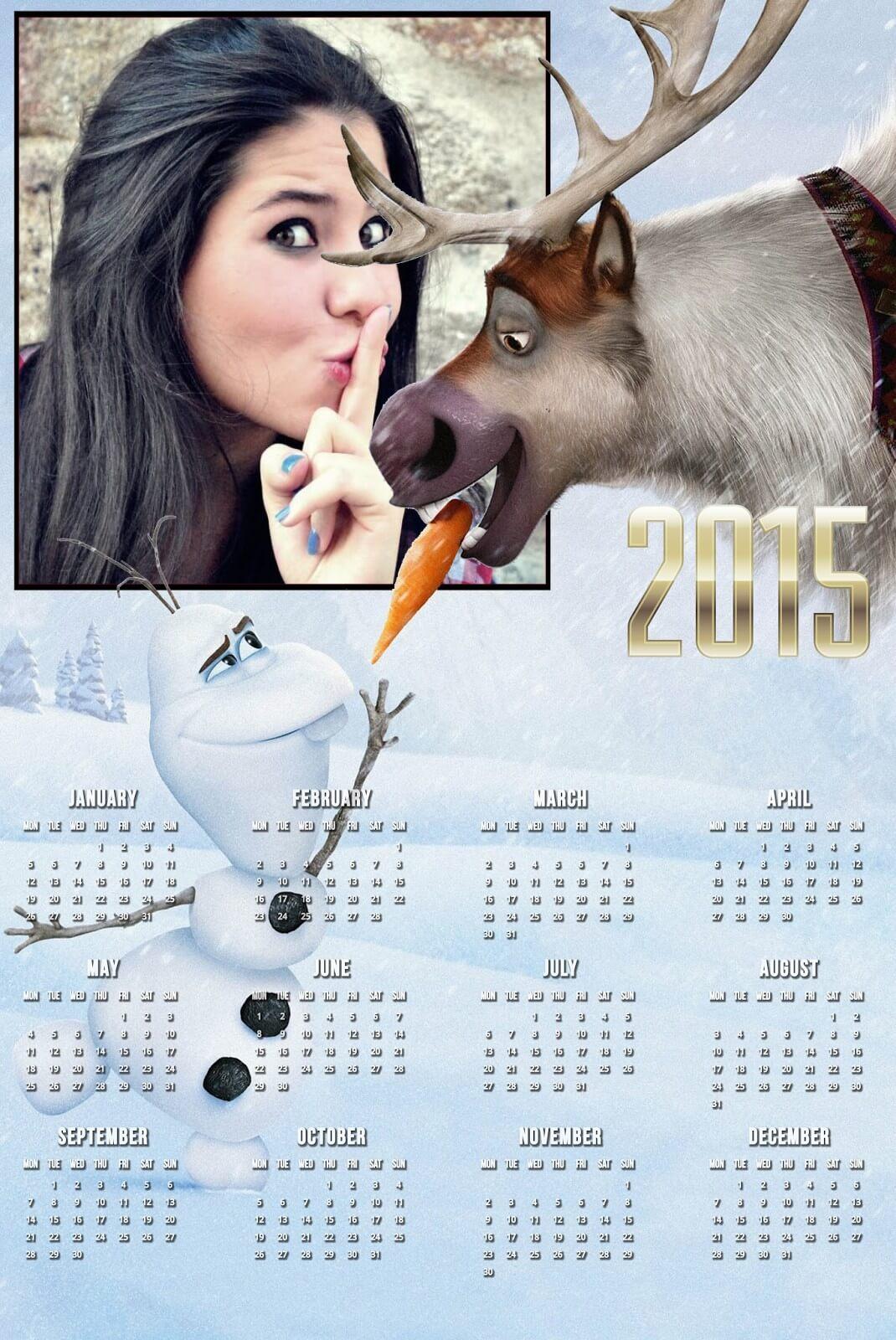 montagem-de-foto-em-calendario-frozen-2015
