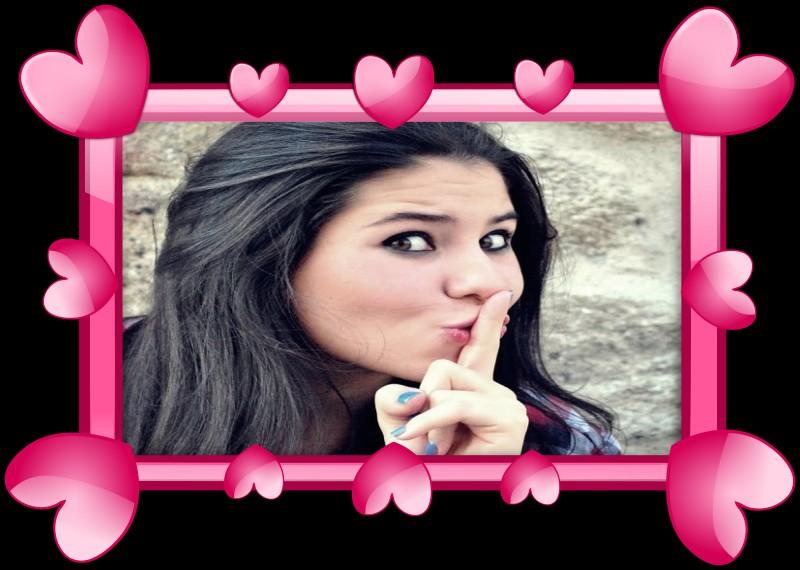 foto montagem de amor pink heart