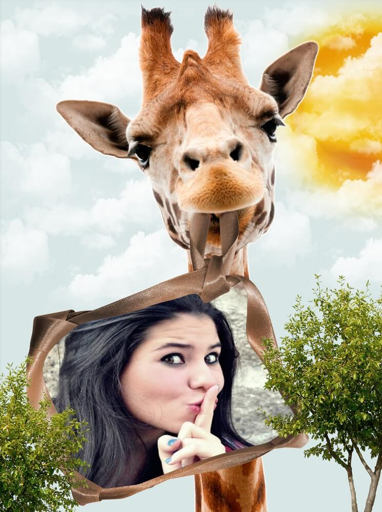 moldura-engracada-com-a-dona-girafa