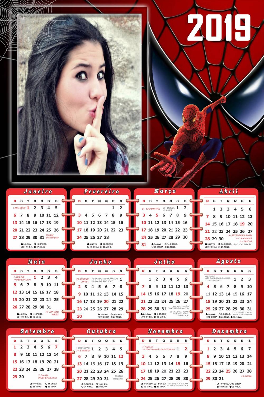 calendario-2019-homem-aranha