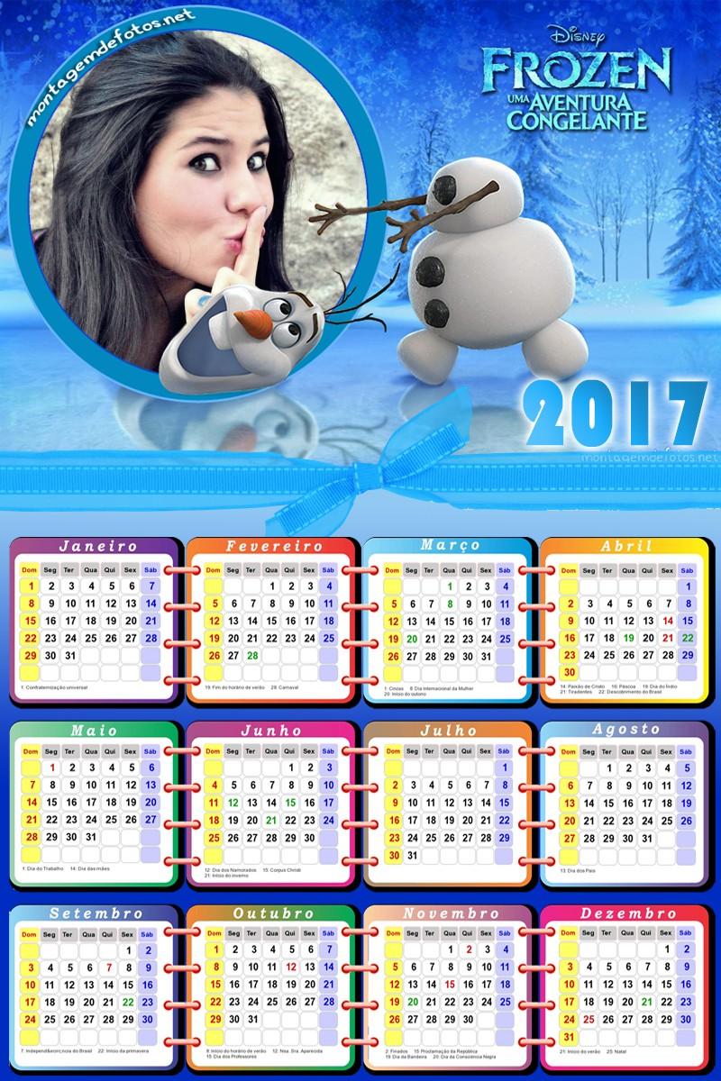 montagem-de-fotos-calendario-frozen-olaf-2017