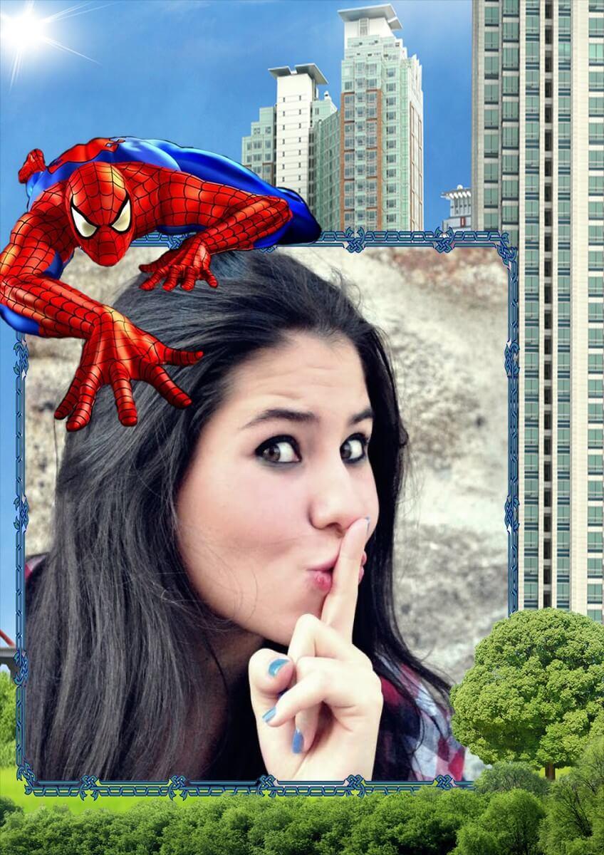 moldura-homem-aranha-defendendo-a-cidade