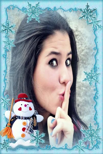 montagem-de-fotos-com-boneco-de-neve
