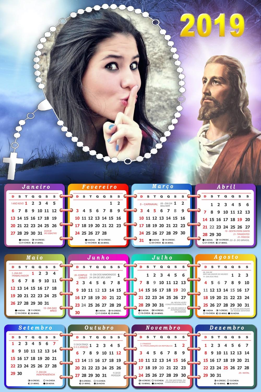 moldura-para-fotos-com-calendario-2019-jesus-cristo
