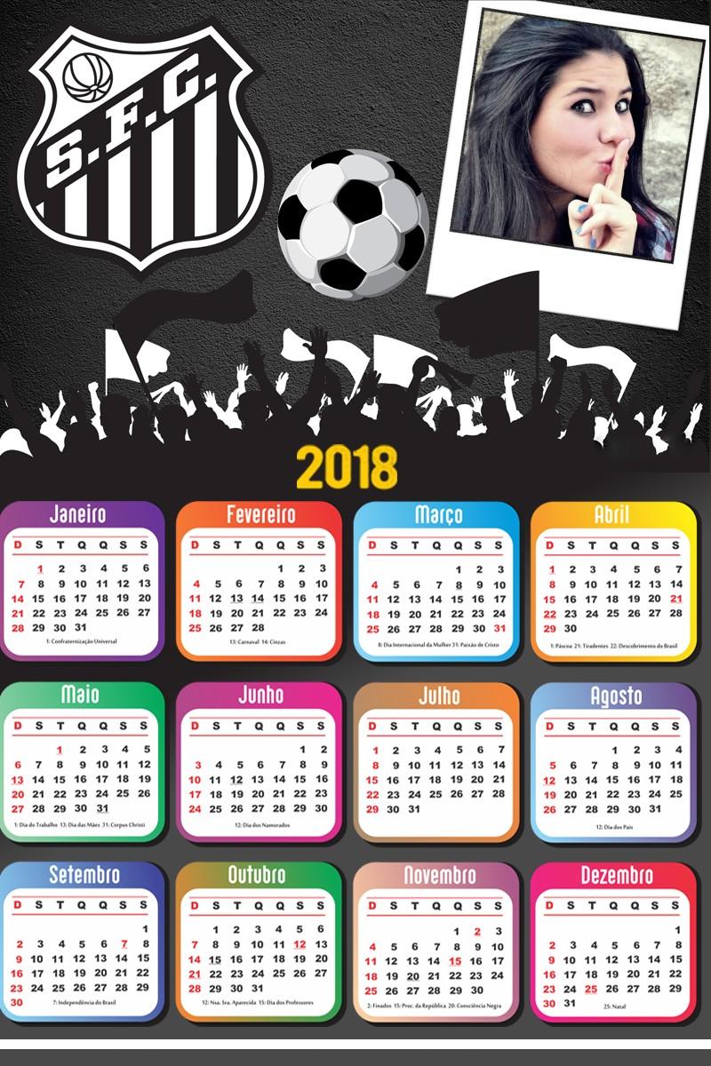 moldura-para-fotos-do-santos-fc-com-calendario-2018