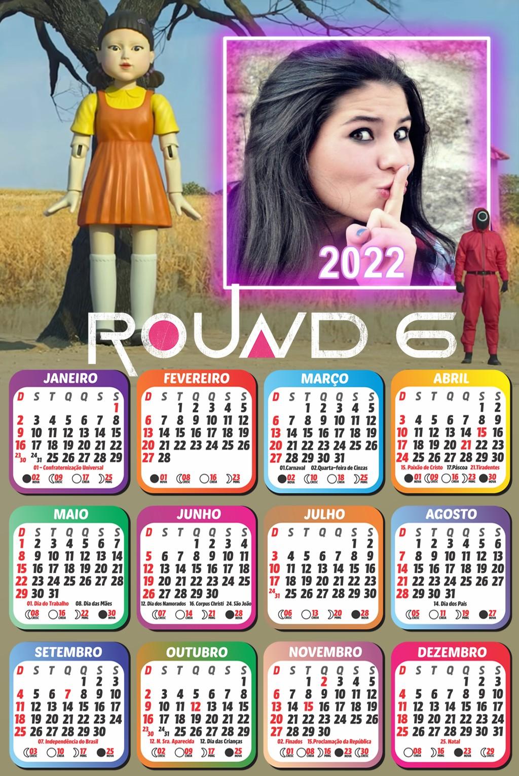 moldura-round-6-com-calendario-com-foto-personalizado-2022